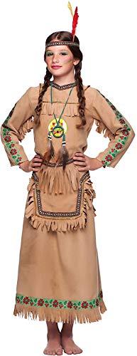 VENEZIANO Costume Carnevale da Indiana Vestito per Ragazza Bambina 7-10 Anni Travestimento Halloween Cosplay Festa Party 5953 S