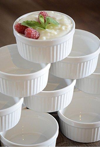 12 Stück Soufflé Souffle Förmchen Pastetenform Näpfchen - 11 cm Ø - Porzellan -