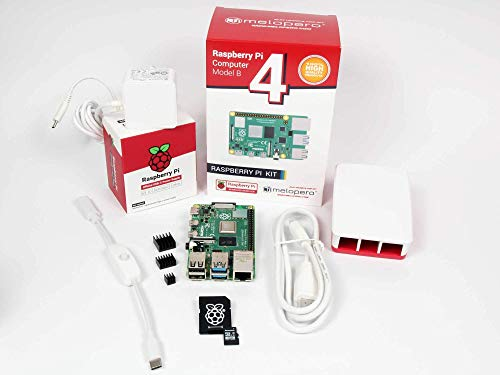 Raspberry Pi 4 Computer Official Premium KIT (4GB RAM, White)