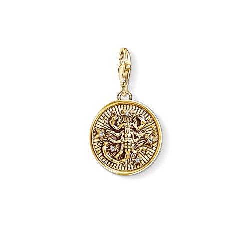 Thomas Sabo Damen Herren-Charm-Anhänger Sternzeichen Skorpion Charm Club 925 Sterling Silber vergoldet 1659-414-39