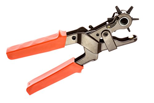 SE 7924LP Heavy Duty Revolving Leather Punch, Orange, Pack of 1