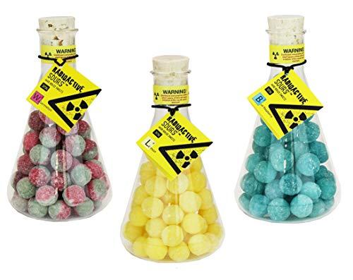 Radioactive Sours - Mega-Extrem saure Süßigkeit - Super Sour Bonbons - 3er Pack - Geschmacksrichtungen Zitrone, Himbeere, Wassermelone (3 x 375g)