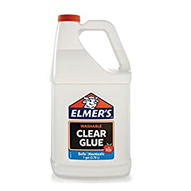 Elmer's Liquid School Glue, Clear, Washable, 1 Gallon - Great for Making Slime 7 Make batches of clear Slime that you can customize with color Safe, Washable and nontoxic Smooth formula creates a clear slime base