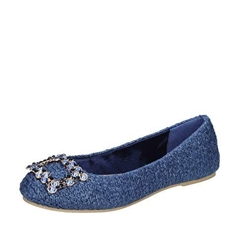 SARA LOPEZ Bailarinas Mujer Textil Azul