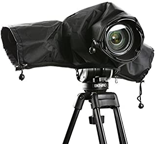 Movo CRC01 Waterproof Nylon Camera Rain Cover with Enclosed Hand Sleeves Compatible with Canon EOS, Nikon, Sony, Olympus, Pentax and Panasonic DSLR Cameras