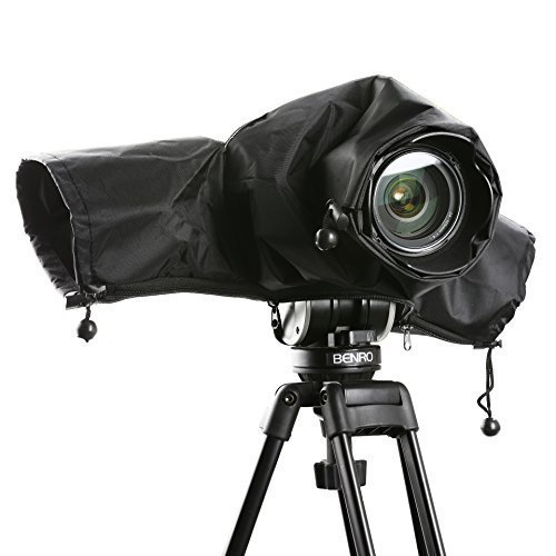 Movo CRC01 Waterproof Nylon Camera Rain Cover with Enclosed Hand Sleeves Compatible with Canon EOS,...