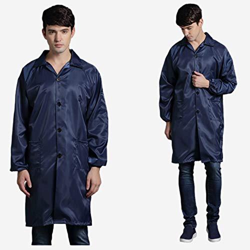 FR&RF Arbeitskleidung, antistatisch, Schutzkleidung, Staubschutz, Anti-Statik, Rückseite ohne Verschluss, 1 Stück, Marineblau, xx-Large
