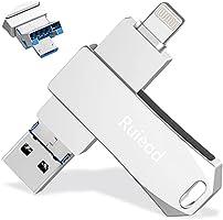 メモリースティック USBメモリ 32GB 高速 USB3.0 3-in-1 Phone/PC/Android 対応、プラグ&プレイ小型 回転式 亜鉛合金ボデメモリ