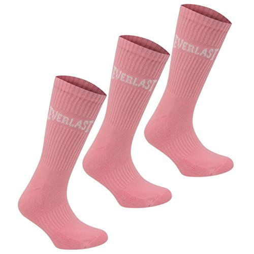 Everlast Damen 3 Paar Socken Rosa Damen 36-42