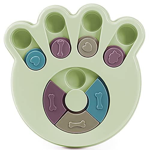 ZoneYan Hund Puzzle Feeder Spielzeug, Hundespielzeug Intelligenz, Hunde Lernspielzeug, Interaktives Spielzeug für Hunde, (Footprint grün)
