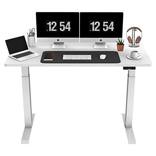 SANODESK EZ1 - Mesa de escritorio eléctrica regulable en altura con tablero telescópico de 2 niveles, con protección contra colisión, control de memoria y función de arranque y parada