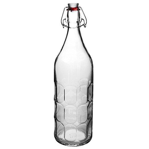 Bormioli Rocco 3.45930 Moresca Botella con tapa hermética, 1 L