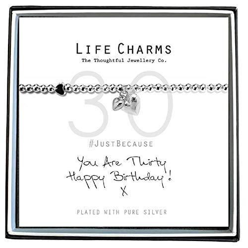 Life Charms Happy 30th Birthday Bracelet