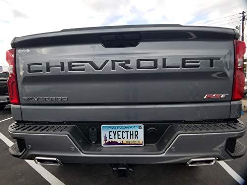 EyeCatcher Tailgate Insert Letters fits 2019-2020 Chevrolet Silverado (Satin Black)
