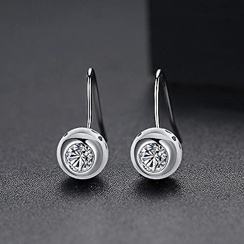 YFZCLYZAXET Earrings Women Studs Fashion Casual Earrings Simple Creative Small Ladies Earrings Simple Ear Hook Gift-Silver-T02F26