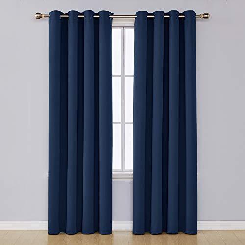 UMI. Essentials Tende 2 Pezzi Oscuranti Termiche Isolanti Coprente con Occhielli per Casa Moderne 140x290cm Blu Navy
