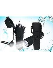 [WDMART] ライター 電子 USB 懐中電灯 防水 充電式 小型 プラズマ放電式 USBライター・懐中電灯付き IP67級防塵・防水 防風 無火炎 強風でも使い 軽量 ガス不要 誕生日プレゼント アウトドアギフト (レッド)