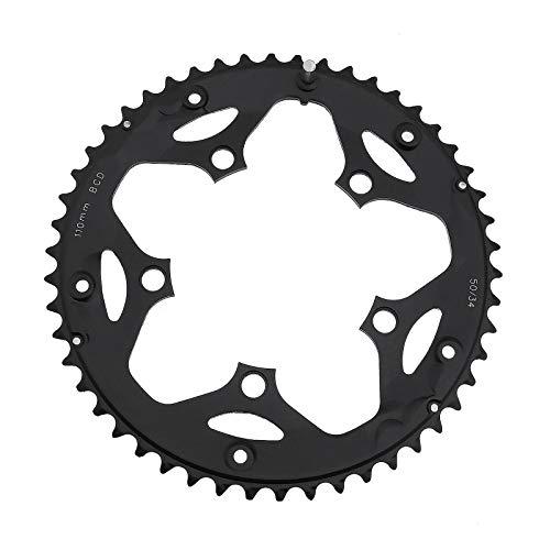 2 Teilige Fahrrad Kettenringe 50T 110BCD 5 Schraubenlöcher für 9-Gang 10-Gang Rennrad Aluminium Fahrrad Ersatzzubehör