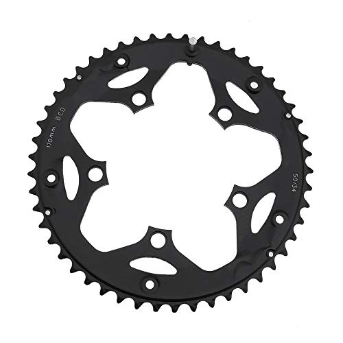 Bicycle Chainrings 50T 110BCD 5 Bolt Holes For 9-Speed 10-Speed Road Bike Aluminum Cycling...