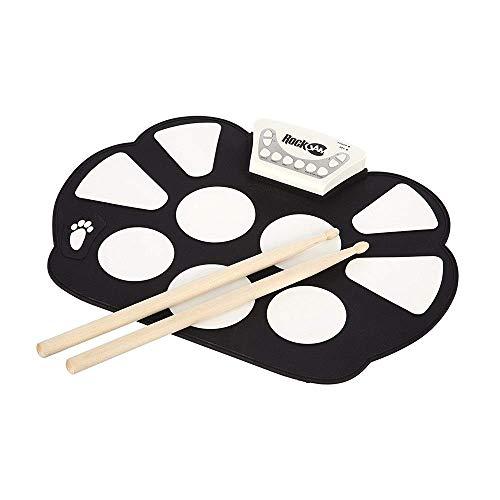 E-Drum USB tragbares elektronisches Roll-up-Pedal Drum-Stick Aufnahme Spiel mit 9 Silizium-Pad-Funktion speakerless Lautsprecher Geschenk for Kinder Schlagzeug Praxis Drum-Kit mit Kopfhörerbuchse Sust