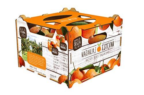 Caja de 5 kg de naranjas de Valencia (comarca La Safor),recolectadas el mismo dia que se envían.