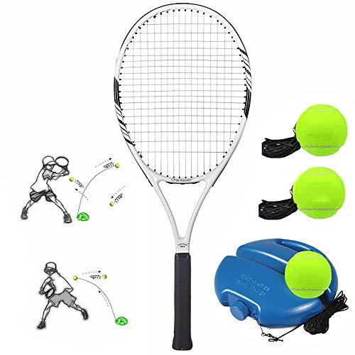 Herramienta de entrenamiento de tenis portátil, raqueta de tenis profesional para adultos, pelota de autoaprendizaje de tenis para ejercicio extenuante, con zócalo, apto para principiantes JoinBuy.R