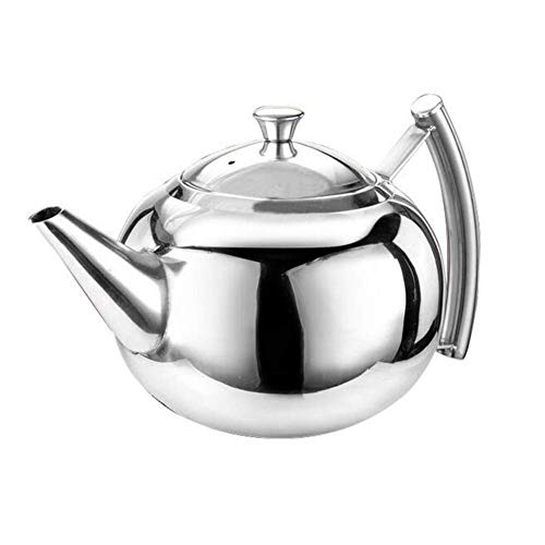 Crystallly Belmont Deluxe Edelstahl Teekanne Edelstahl Stainless Steel Teapot Handle Edelstahl Einfacher Stil Hochglanzpoliert Tropffreier Teekanne Für Losen Blatt Tee Kaffee 2 0L