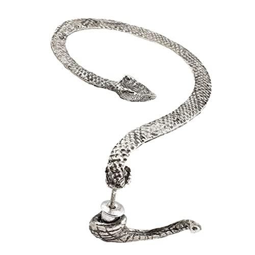 liuliu Pendientes de Oreja con Forma de Serpiente Punk de Rock gótico Vintage Retro para Mujeres y Hombres Clip de Oreja Piercing de cartílago Regalo de joyería