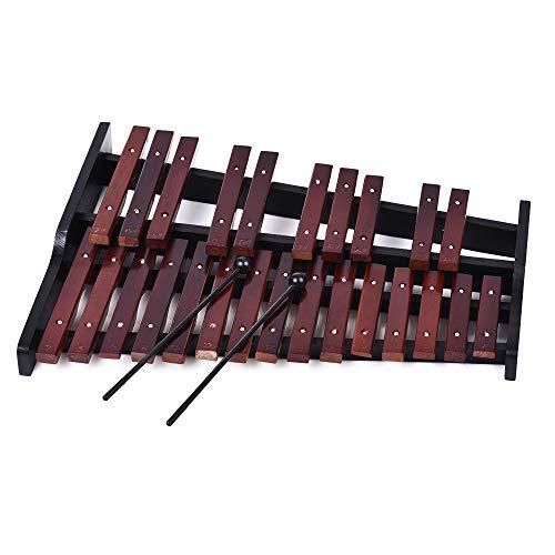 ABMBERTK 25 Note Xylophon aus Holz, Percussion-Musikinstrument, mit 2 Schlägeln, als Show
