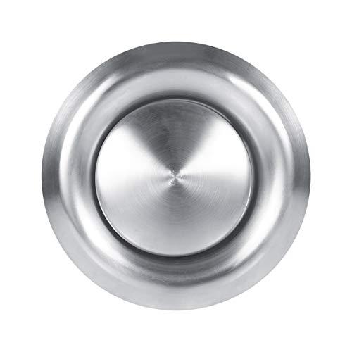 SOONHUA Cubierta de Rejilla de Ventilación de Aire Redondo de Acero Inoxidable Cubierta de Conducto de Ventilación Difusor de Techo de Pared,5.5 x 3.9inch