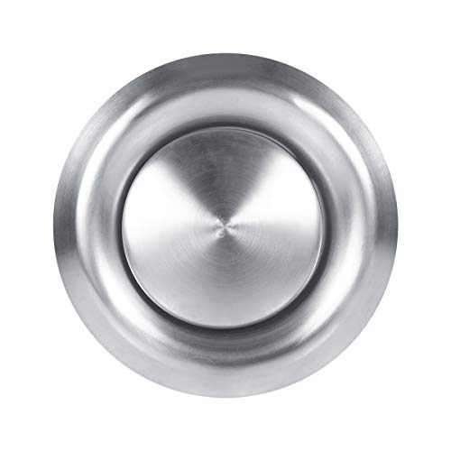 Niet ventilatierooster voor het plafond, rond, van roestvrij staal, afdekking voor ventilatiesleuven, wanddiffuser voor de keuken in de badkamer