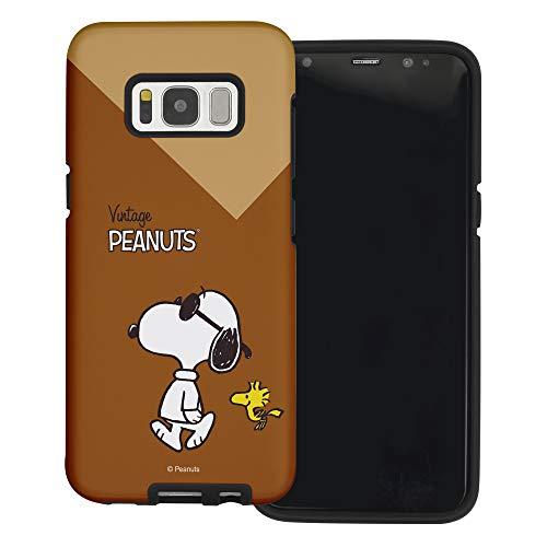 Galaxy S7 Edge ケース と互換性があります Peanuts Snoopy ピーナッツ スヌーピー ダブル バンパー ケース デュアルレイヤー 【 ギャラクシー S7 エッジ ケース 】 (鮮やか スヌーピー ウッドストック) [並行輸入品]
