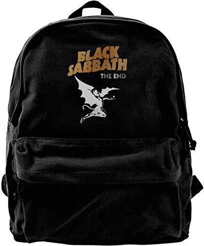 Canvas Backpack Black Sabbath The End Logo Rucksack Gym Hiking Laptop Shoulder Bag Daypack for Men Women