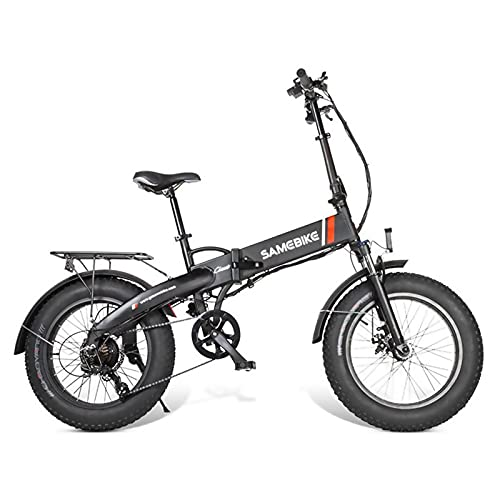 Bicicleta eléctrica de 20 pulgadas: bicicleta E-bicicleta de neumáticos de grasa con batería de litio de 48V 8AH, ferbillos de 7 velocidades de engranajes Shimano y de alta resistencia, frenos de disc