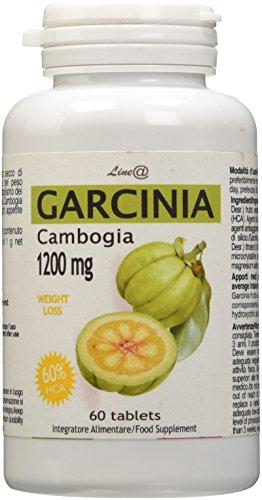 GARCINIA Cambogia Pura WEIGHT LOSS 1200mg Line@ 60% di HCA / Prodotto ITALIANO 100% naturale - Stop alla FAME! Trattamento per un MESE! Perdi Peso e Bruciagrassi di nuova generazione!
