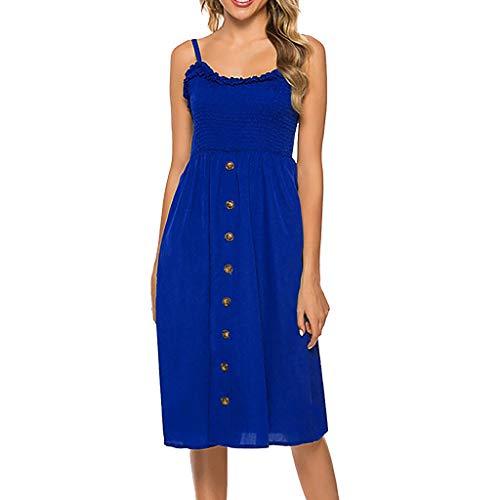 Damen Blusenkleid Hemdkleid Shirt Kleid Langarm V-Ausschnitt Button Down Casuel Lang Kleider Maxi Mit Gewebter Gürtel