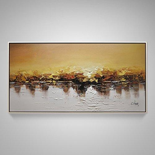 OOXJGGBCG Vers Abstract Schilderij Living Room, Sofa-wanddecoratie Hand Kunst Hangend Schilderij Eenvoudig Moderne muurschilderijen Europese muur schilderij 140x70cm(55x28inch) F