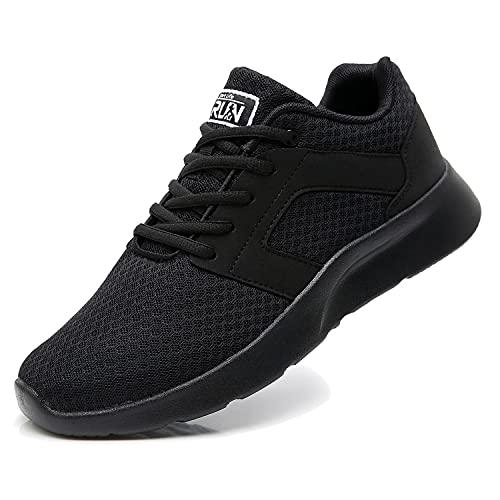 Fexkean Scarpe da Ginnastica Sportive Uomo Donna Running Sneaker Casual Leggero Basse Corsa Calzature Outdoor Fitness Traspirante Mesh (8996 Black 37)