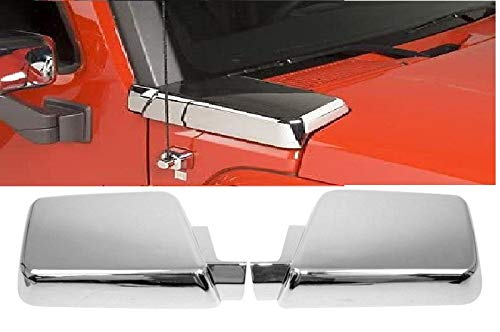 World Class Suppliers Chrome Side Air Intake Hood Vent Cover Trims for Hummer H3 2006-10