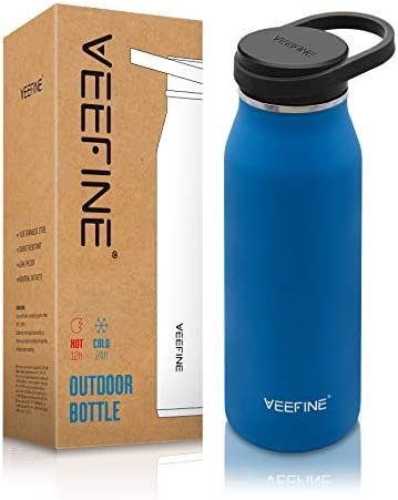 VEEFINE Water Bottle Vacuum Insulated Stainless Steel Water Bottles Keep Cold Hot Leak Proof product image