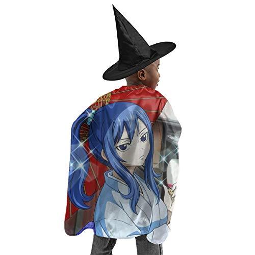 CrazyCoolArt Fairy Tail Juvia Lockser Halloween Hexe Set Kinder Rollenspiel Kostüme Hexe Umhang Hut Halloween Kleid Set