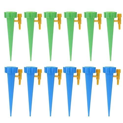 Travel Drop Shipping 12st machinale Drip Watering Irrigatie toolkits Indoor System Kamerplant Spikes for de tuinbouw ingemaakt installatie (Kleur : 12pcs, Size : One size)