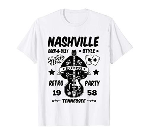 Camisetas Rockabilly Hombre Mujer Rock and Roll Rockero Camiseta