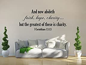 Susie85Electra Christian Gifts Bible Verse Wall Art I Corinthians 1313 Kjv Decal Vinyl Wall Art Vinyl Decals Art Faith Hope Charity