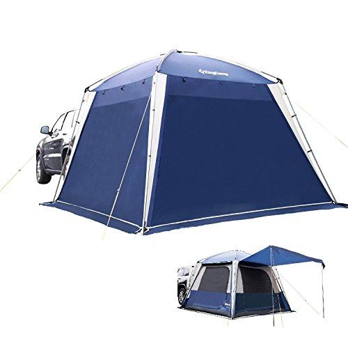 KingCamp - Tienda de campaña Multiusos Impermeable al Agua y al Fuego Transpirable para 5 Personas, 3 Estaciones, Color Azul