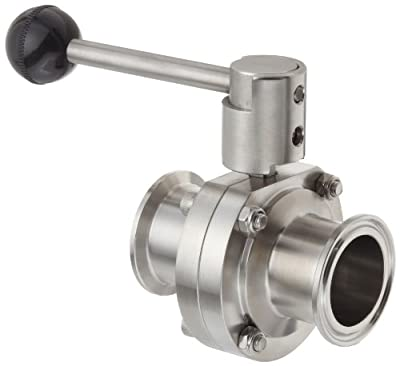 "Dixon B5101E150CC-A Stainless Steel 316L Butterfly Valve with Pull Handle and EPDM Seal, 1-1/2"" Tube OD from Dixon Valve & Coupling"