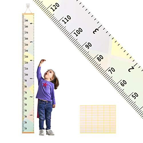 medidor niños pared ZoomSky para medidor niño de estatura de medidor pared infantil de gráfica de altura colgante en la habitación, sala de pared (A)