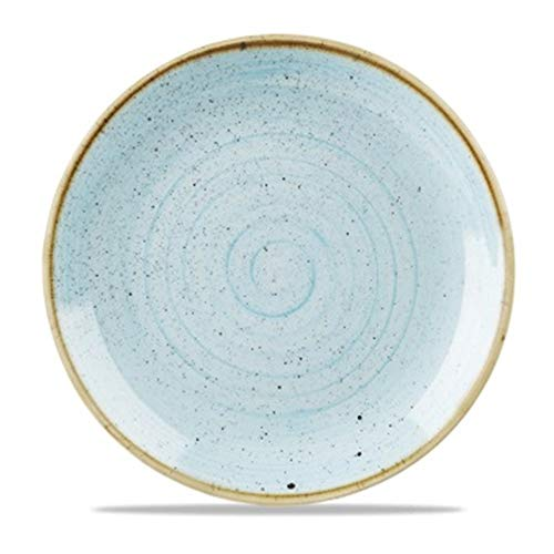 Churchill Stonecast Round Coupe Plate Duck Egg Blue 288mm (Pack of 12) - [GM686]