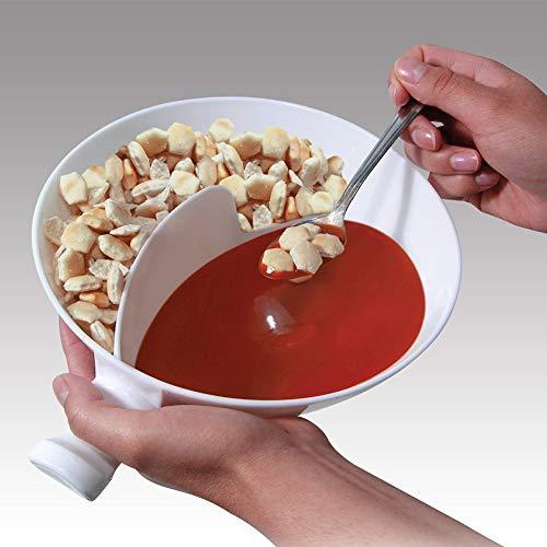 Housesweet Kreativer Griff Getrennter Schüssel-Griff Zuhause Isolierte Schale Snack Getrennte Schüssel Snack Schüssel Müsli