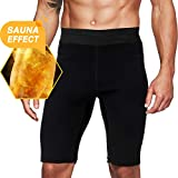 Roseate Men's Hot Sweat Sauna Pants Thermo Slimming Shorts Thigh Shaper for Workout Neoprene Body...